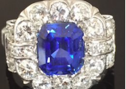 bagues saphir diamants 