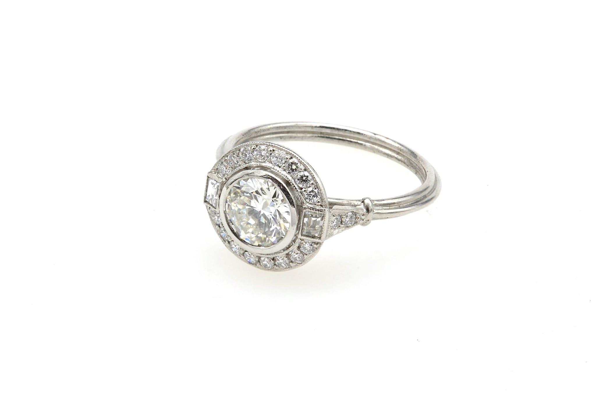 achat bague Art Déco diamants