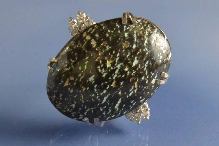 achat bague opale noire