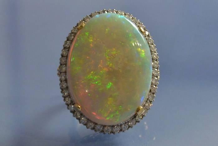 achat bague vintage opale