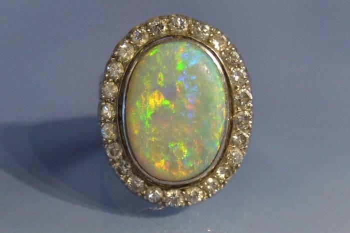 rachat bague vintage opale