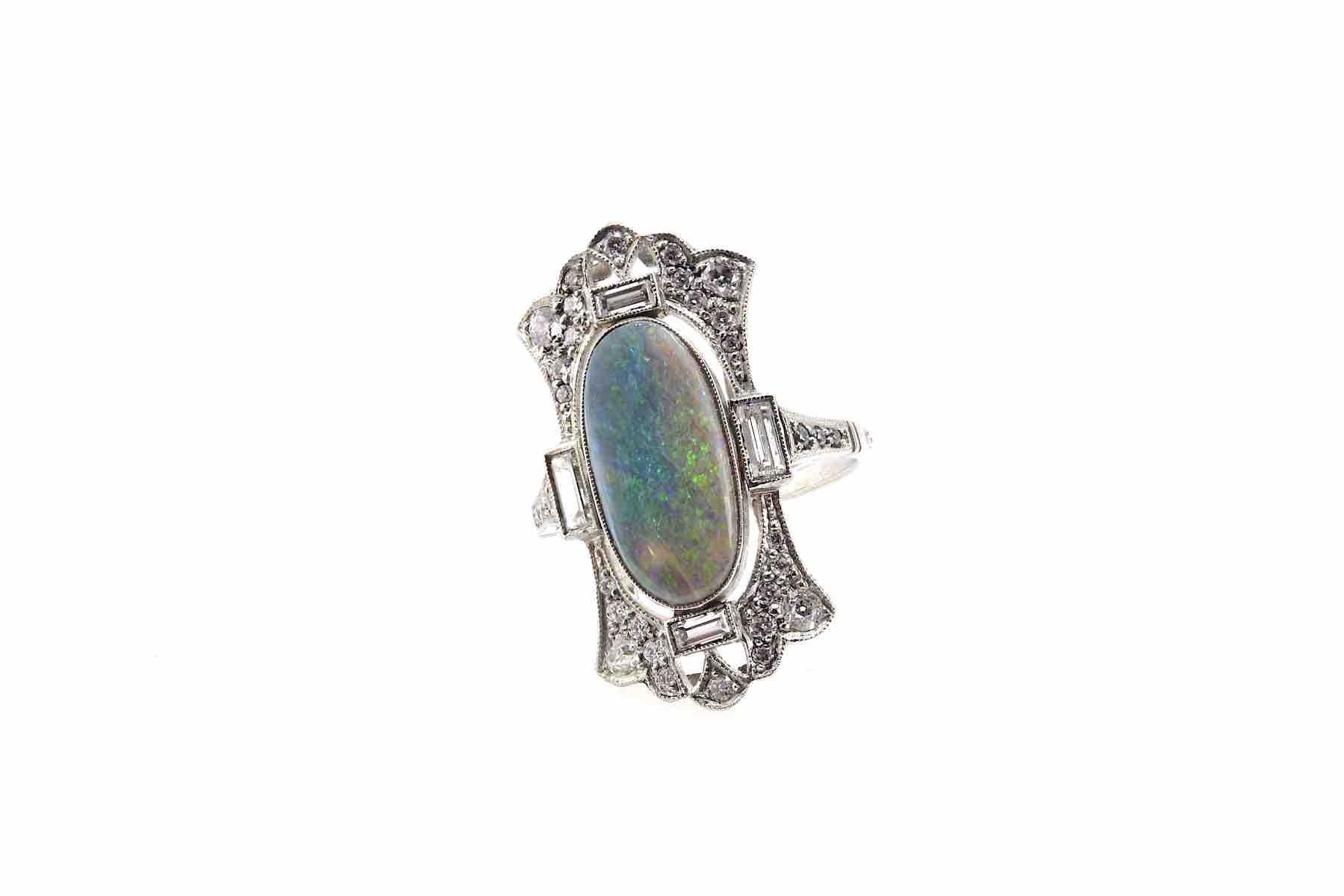 bagues ancienne opale naturelle