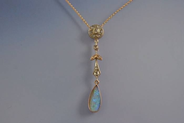achat collier pendentif opale