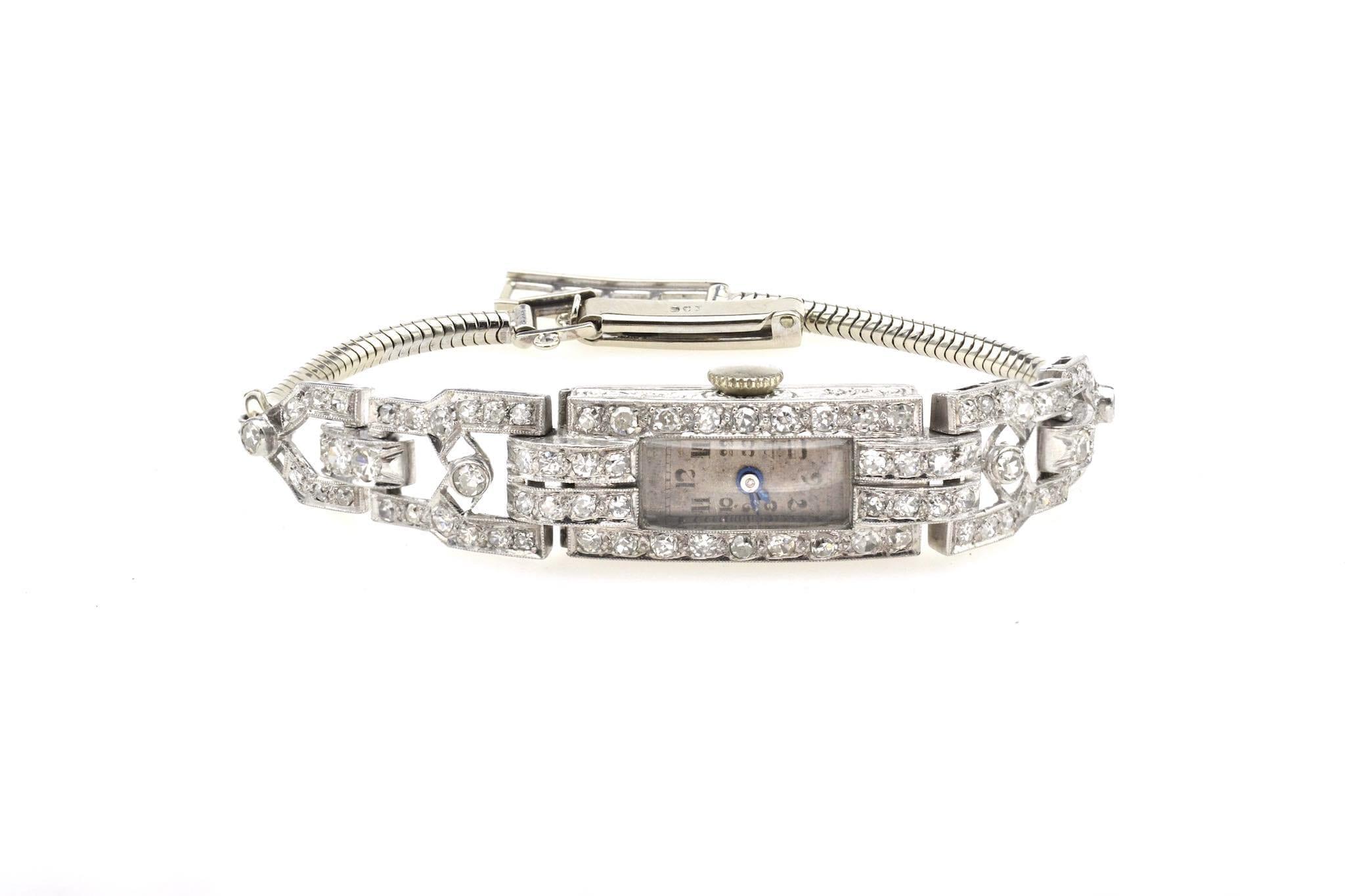 vendre Montre Art Déco diamants