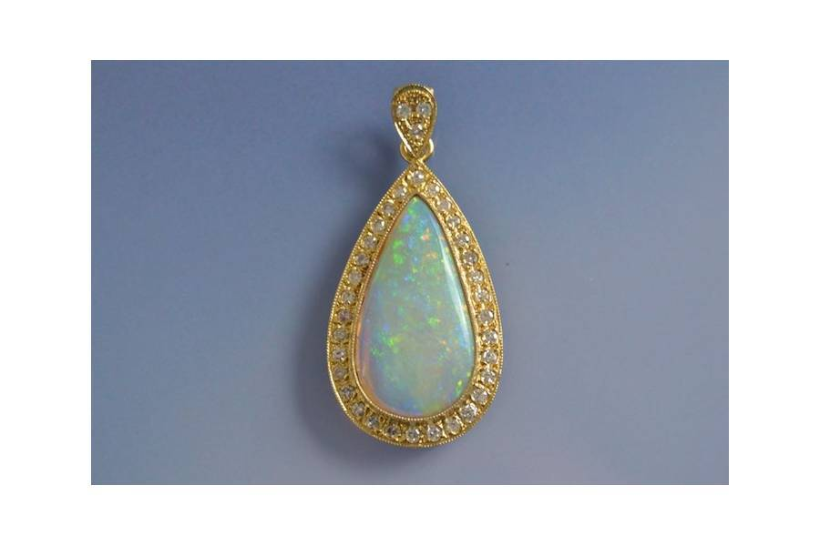 achat pendentif opale