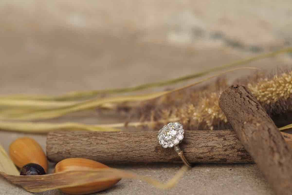 belle bague diamants en vente