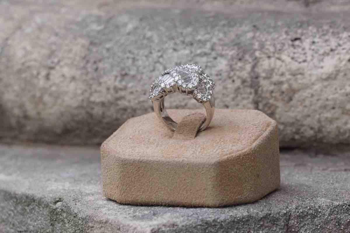 solitaire diamants en vente