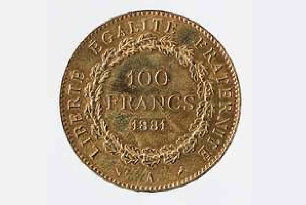 pièce 100francs en or