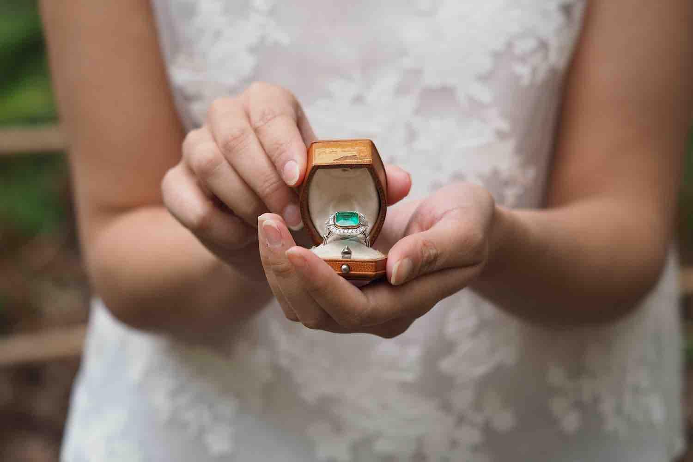 bague de fiançailles emeraude du mexique