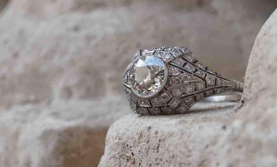 achat de bague art déco diamants