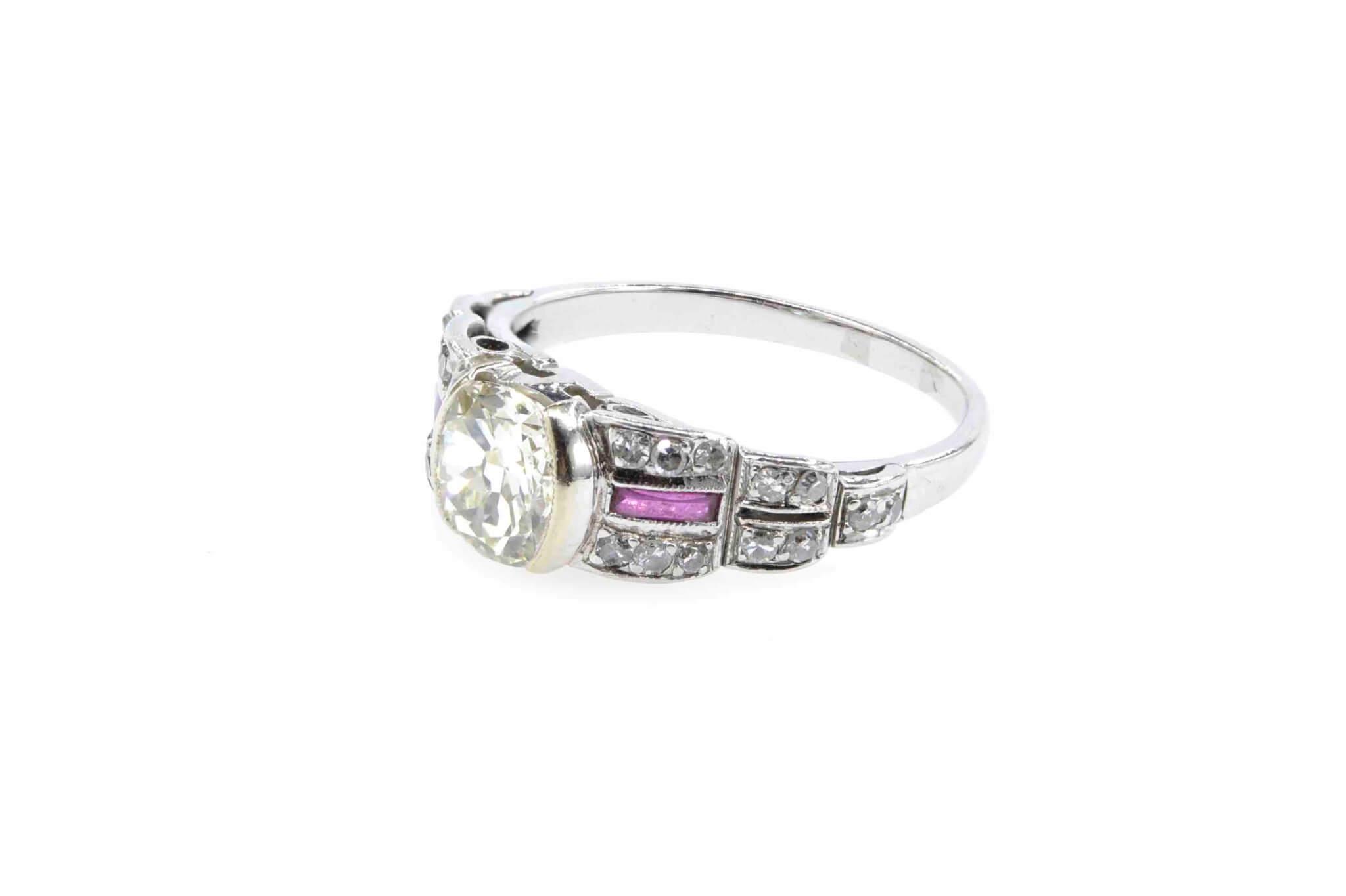 bague ancienne diamants et rubis
