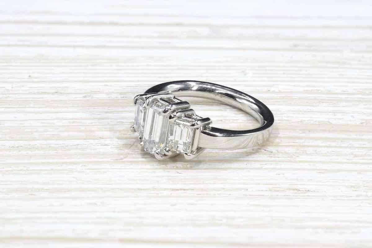 revendre bague diamant de taille emeraude
