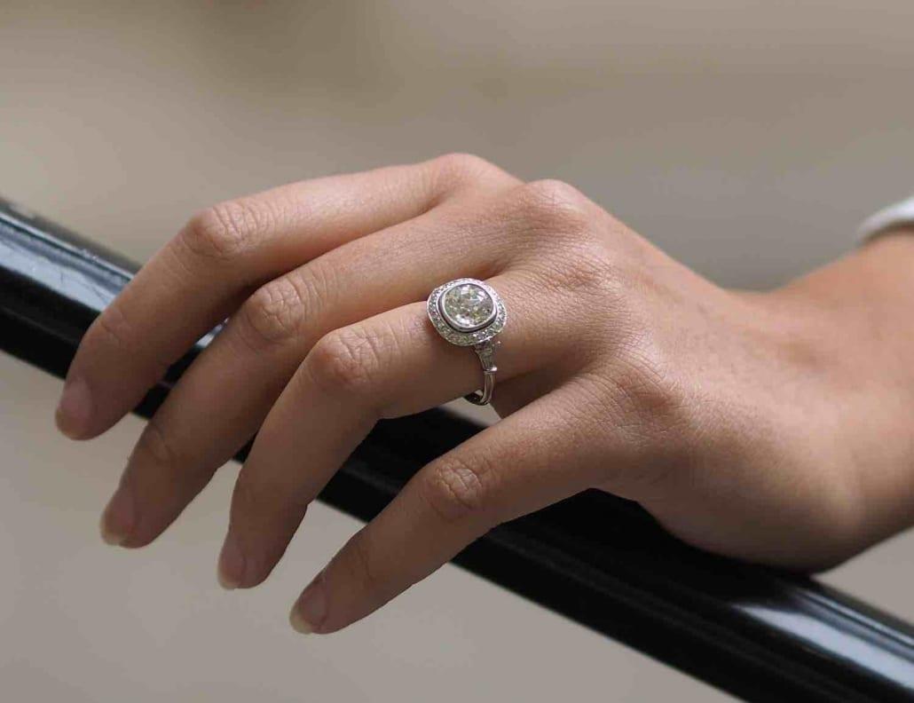 Achat bague vintage diamants