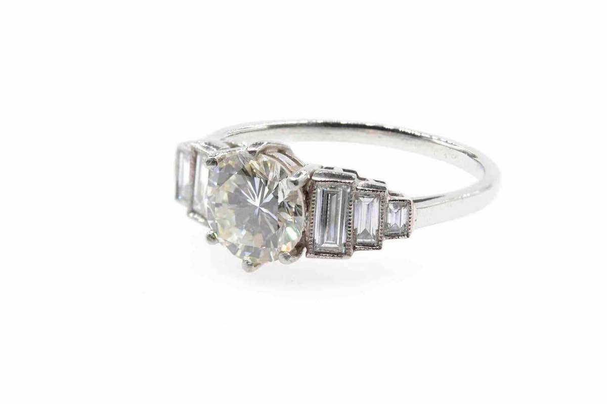 bague diamants et or 18k