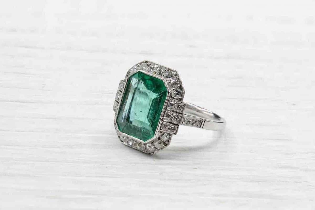 achat bague diamants anciens
