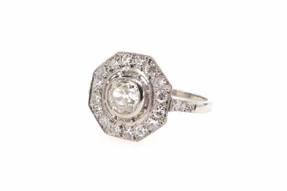 solitaire jonc diamants