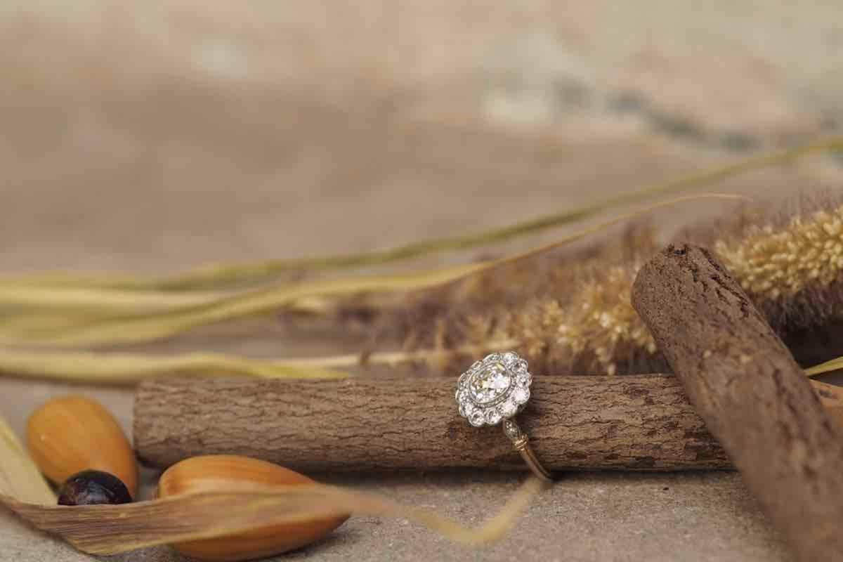 solitaire diamants en or 14k