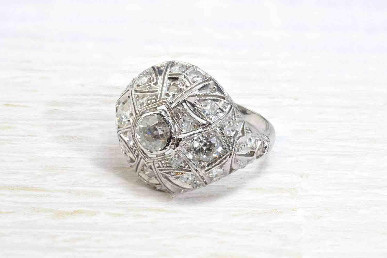 bague boule diamants