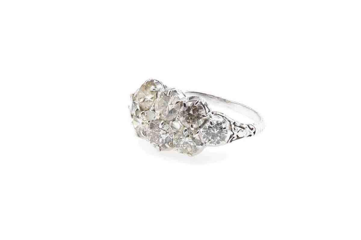 jolie bague diamants en or