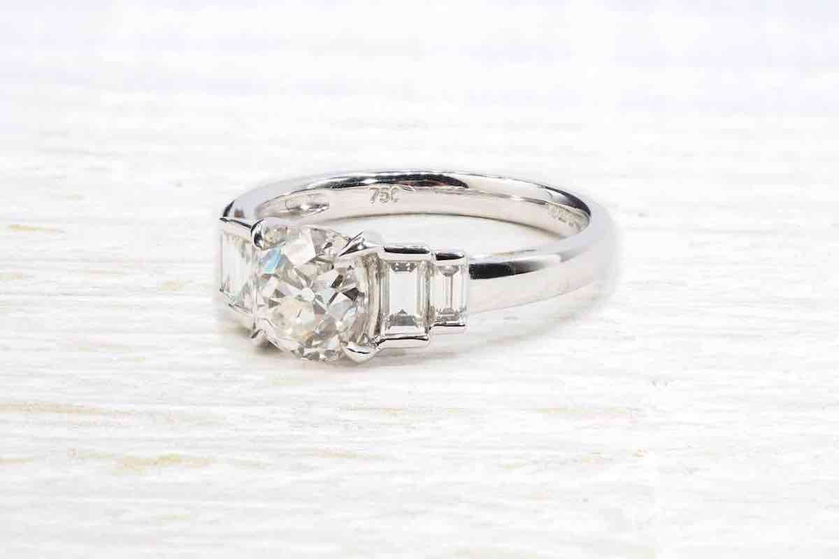 bague diamants or