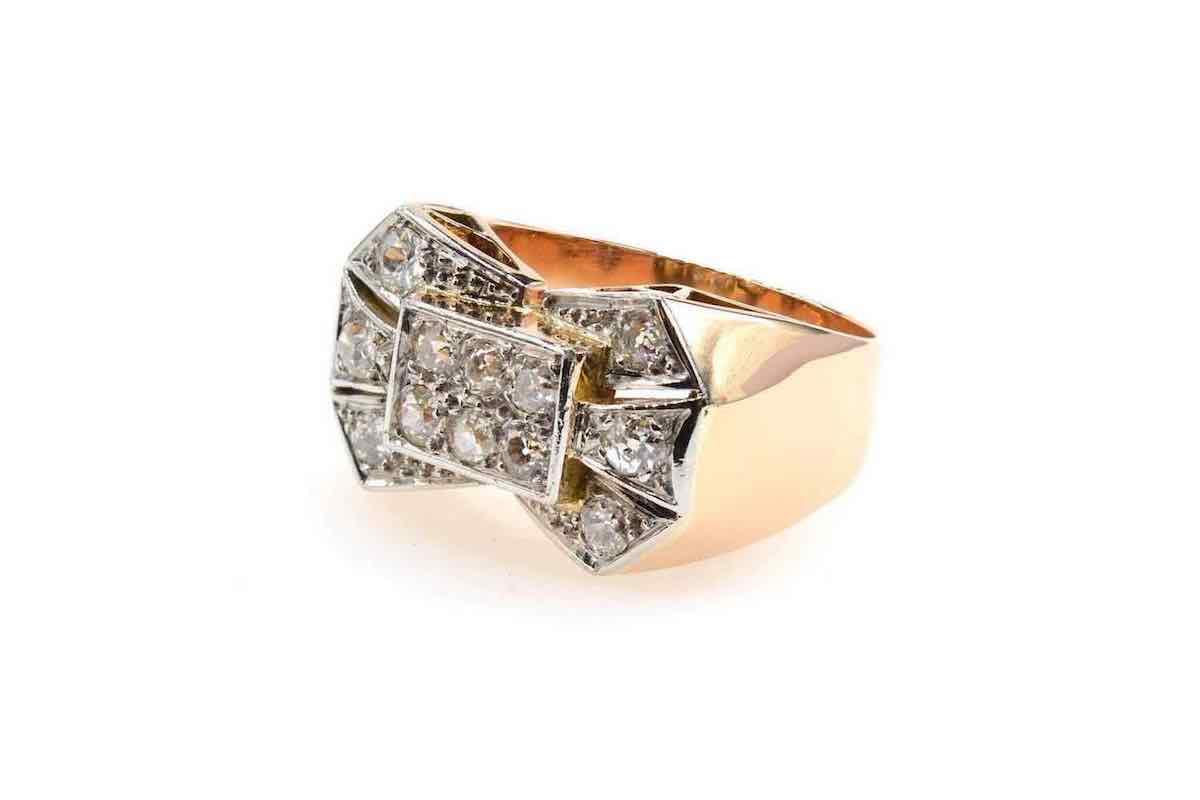 bague or diamants central