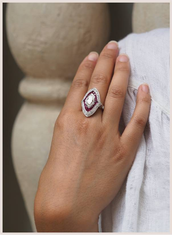 achat bague rubis birman