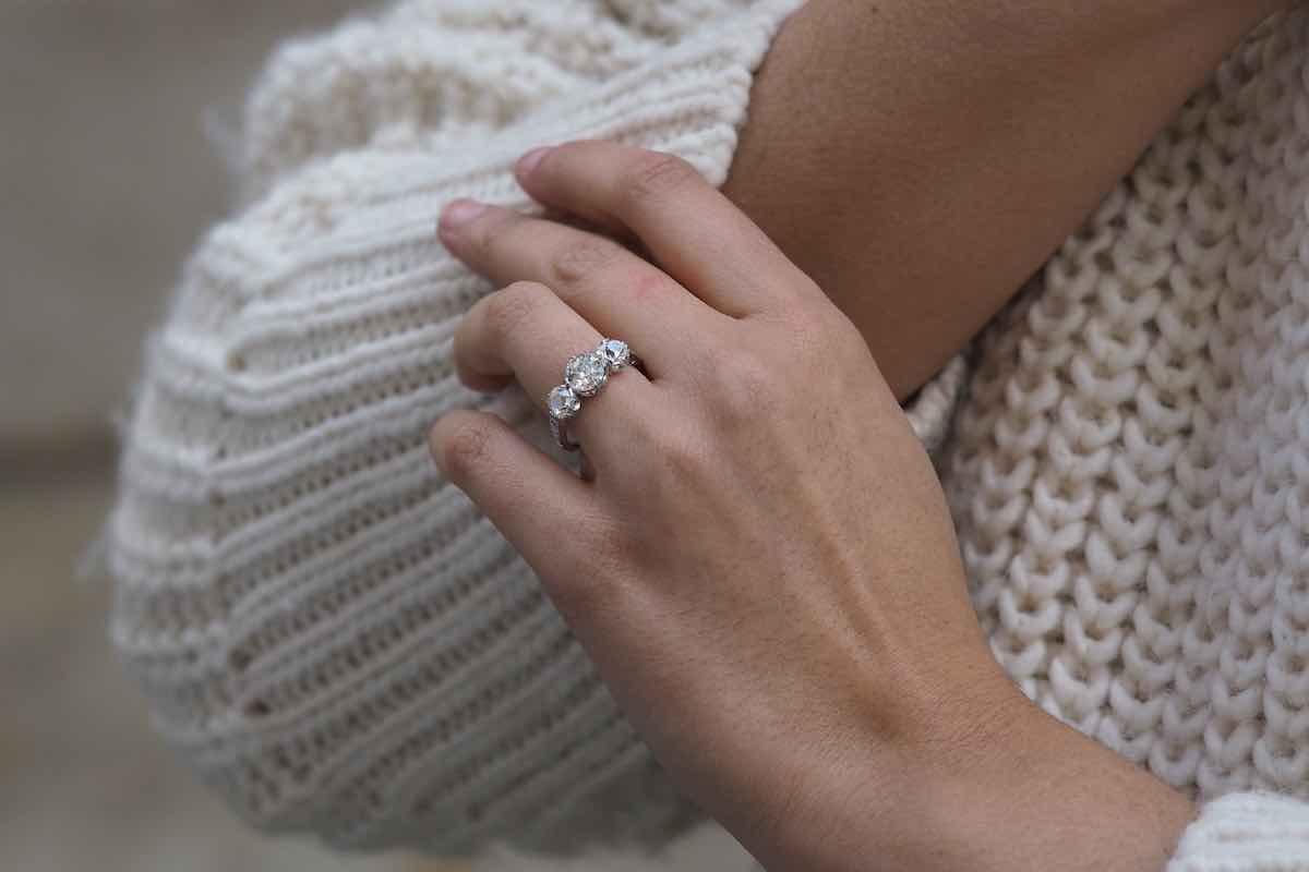 achat bague trilogie diamants