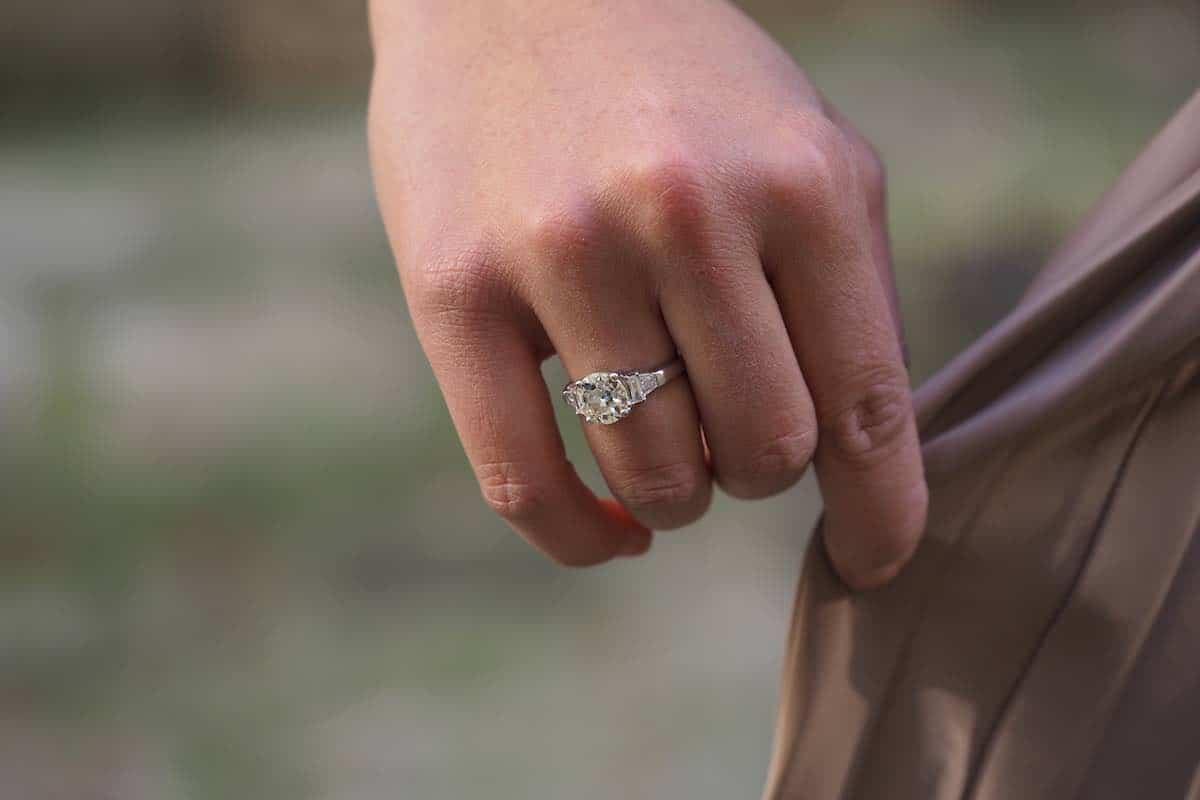 achat bague solitaire de fiançailles