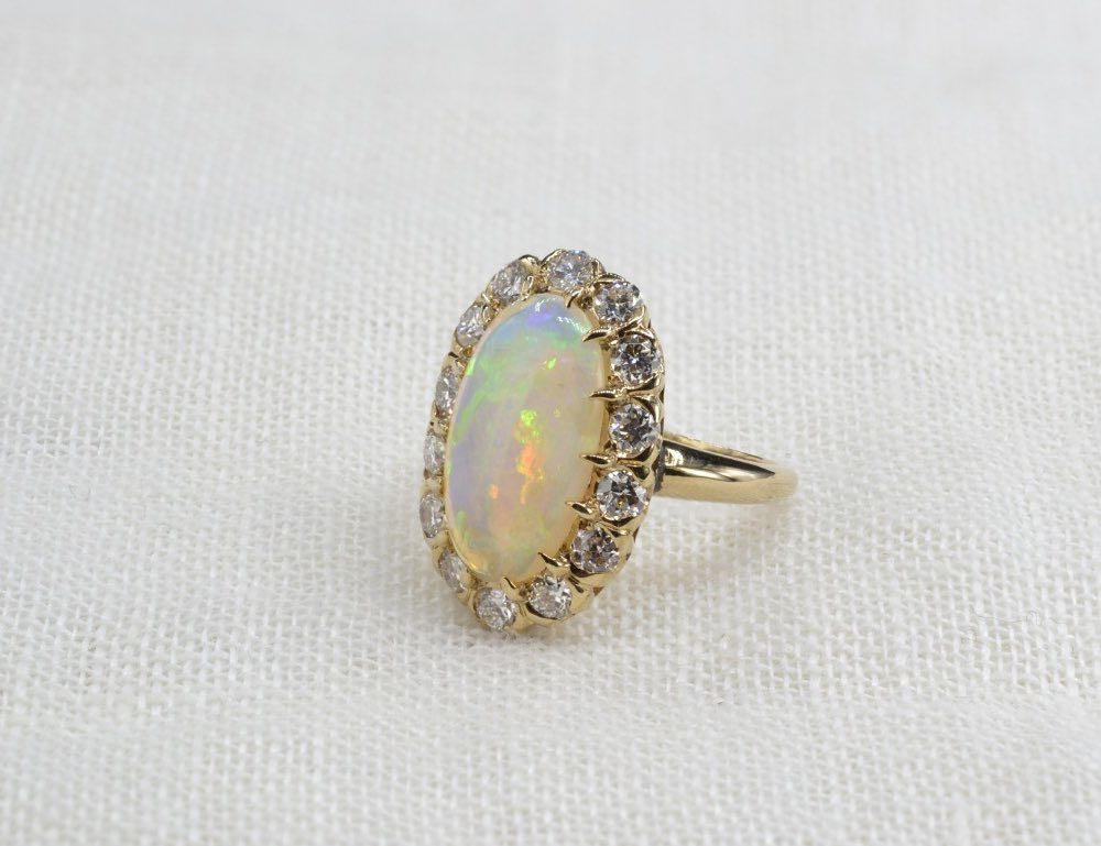 achat bagues anciennes opales