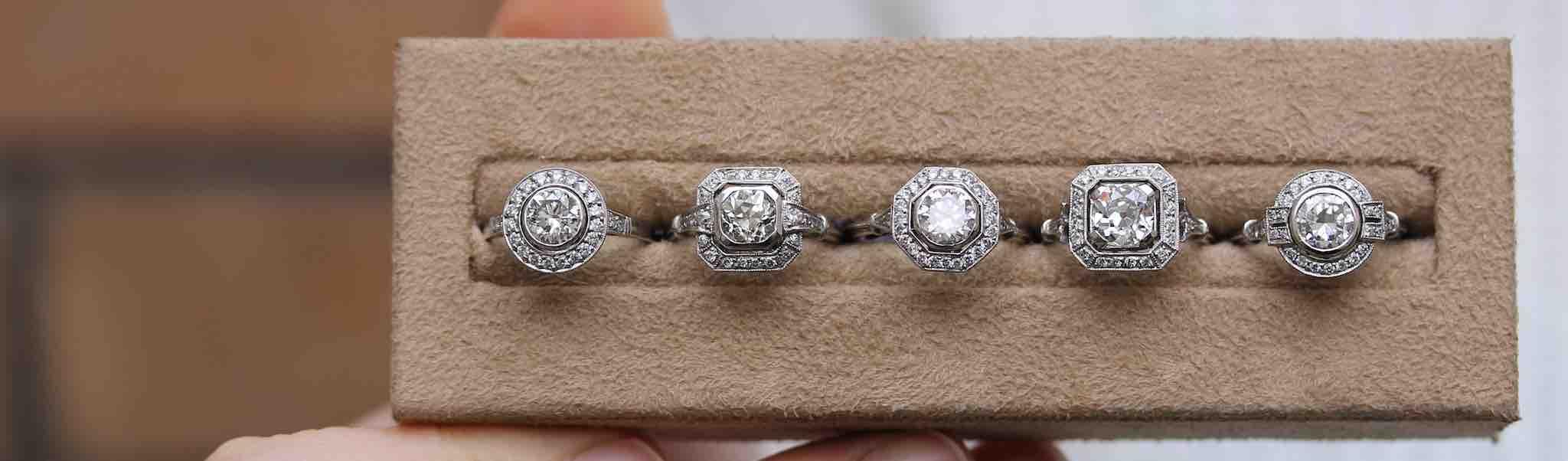 bagues anciennes diamants