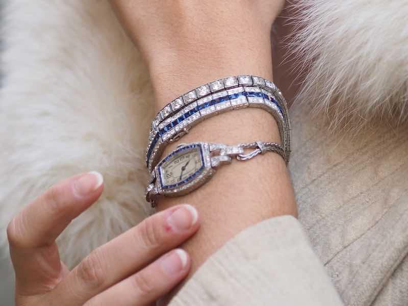 vente bijoux Art Déco diamants et saphirs
