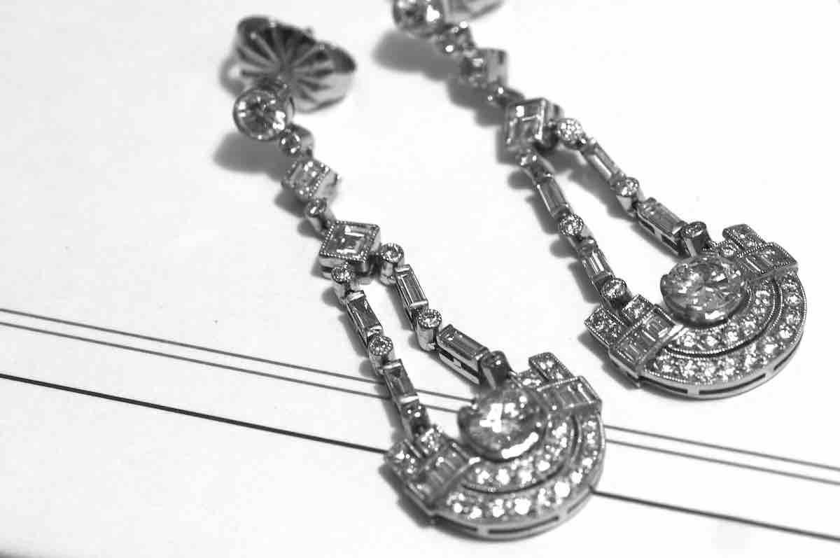 rachat de boucle d'oreilles diamants
