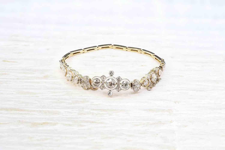de bracelet or 18k et diamants