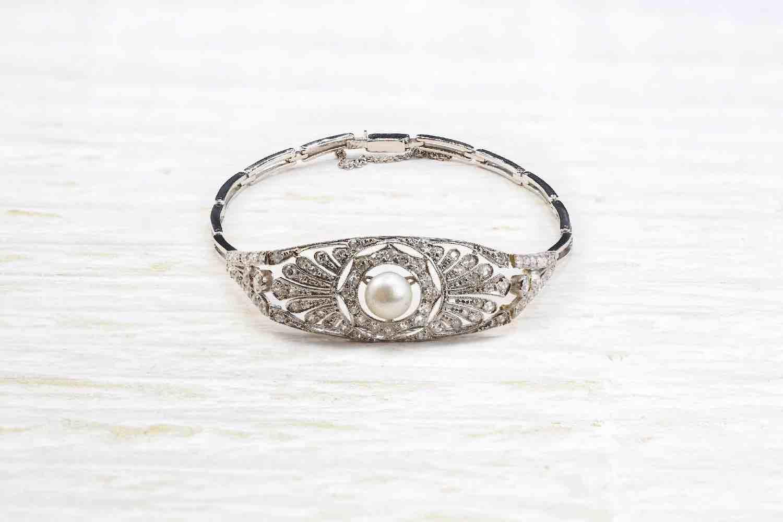 rachat de bracelet diamants et perle