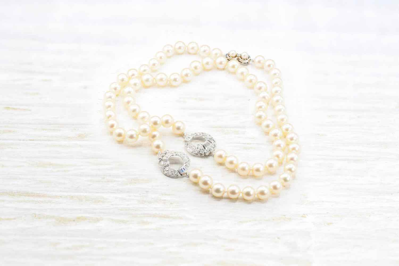 bracelet perles et diamants