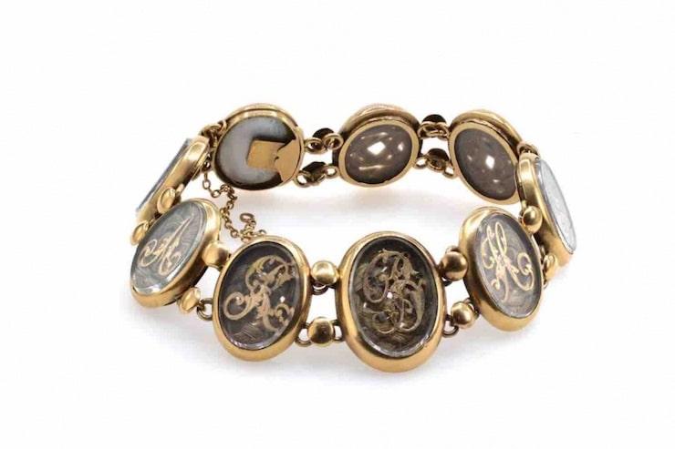 bracelet antique or jaune
