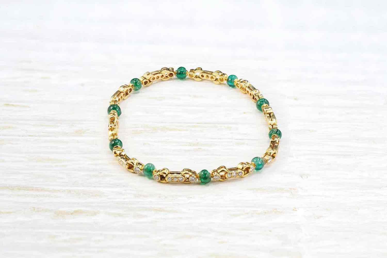 achat bracelet or et emeraude