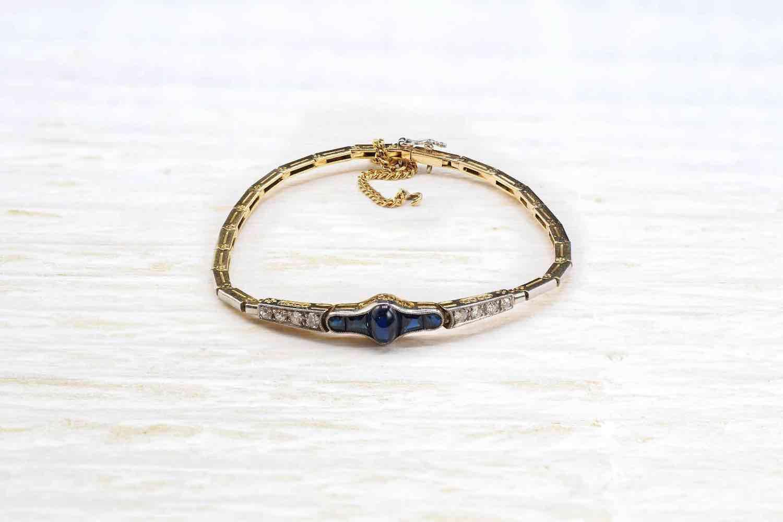 rachat de bracelet saphirs et diamants