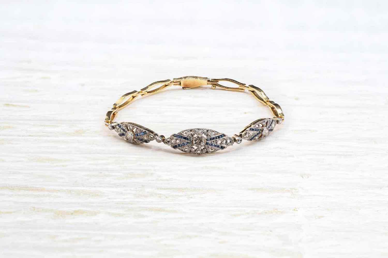 achat bracelet diamants et saphirs