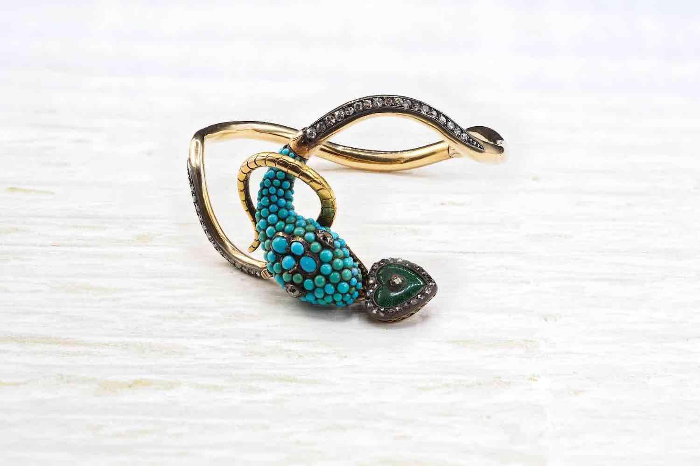 achat de bracelet serpent art déco