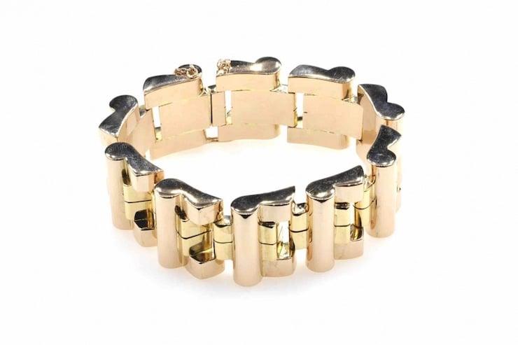 bracelet vintage en or