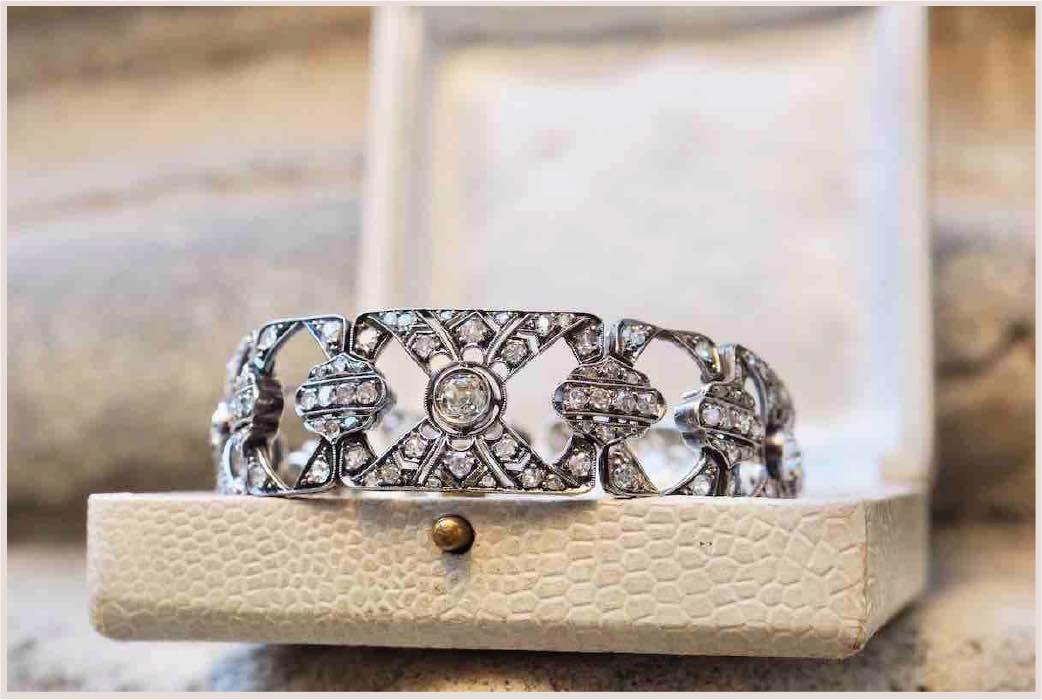 achat bracelet vintage diamants
