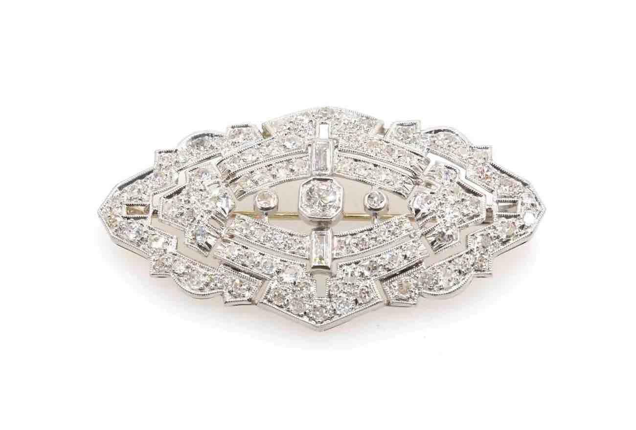 broche ancienne tout diamants