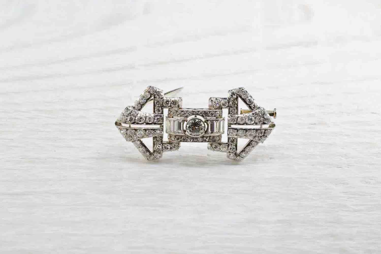 achat broche diamants art deco