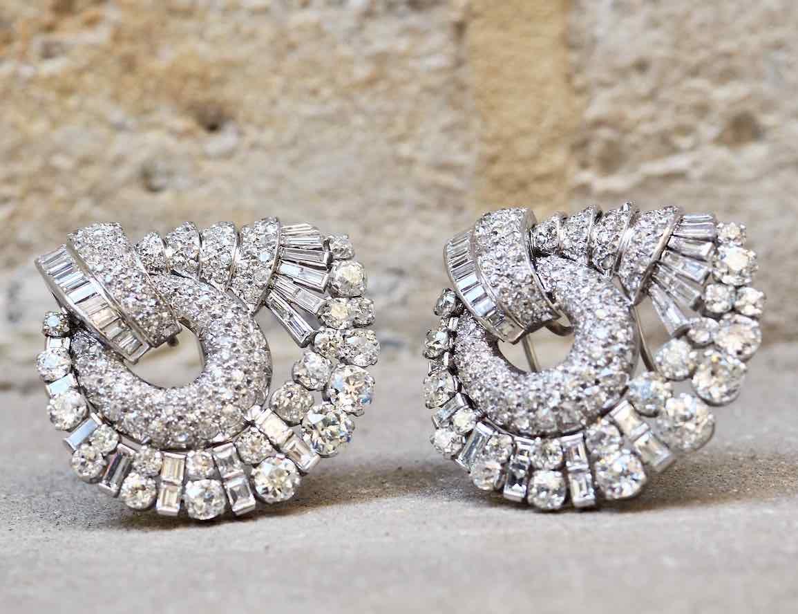 broche en diamants annees 50