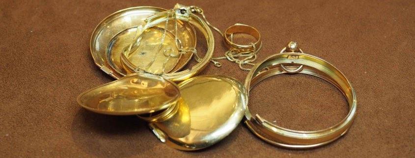 Bijoux et montres cassés, prix de l'or