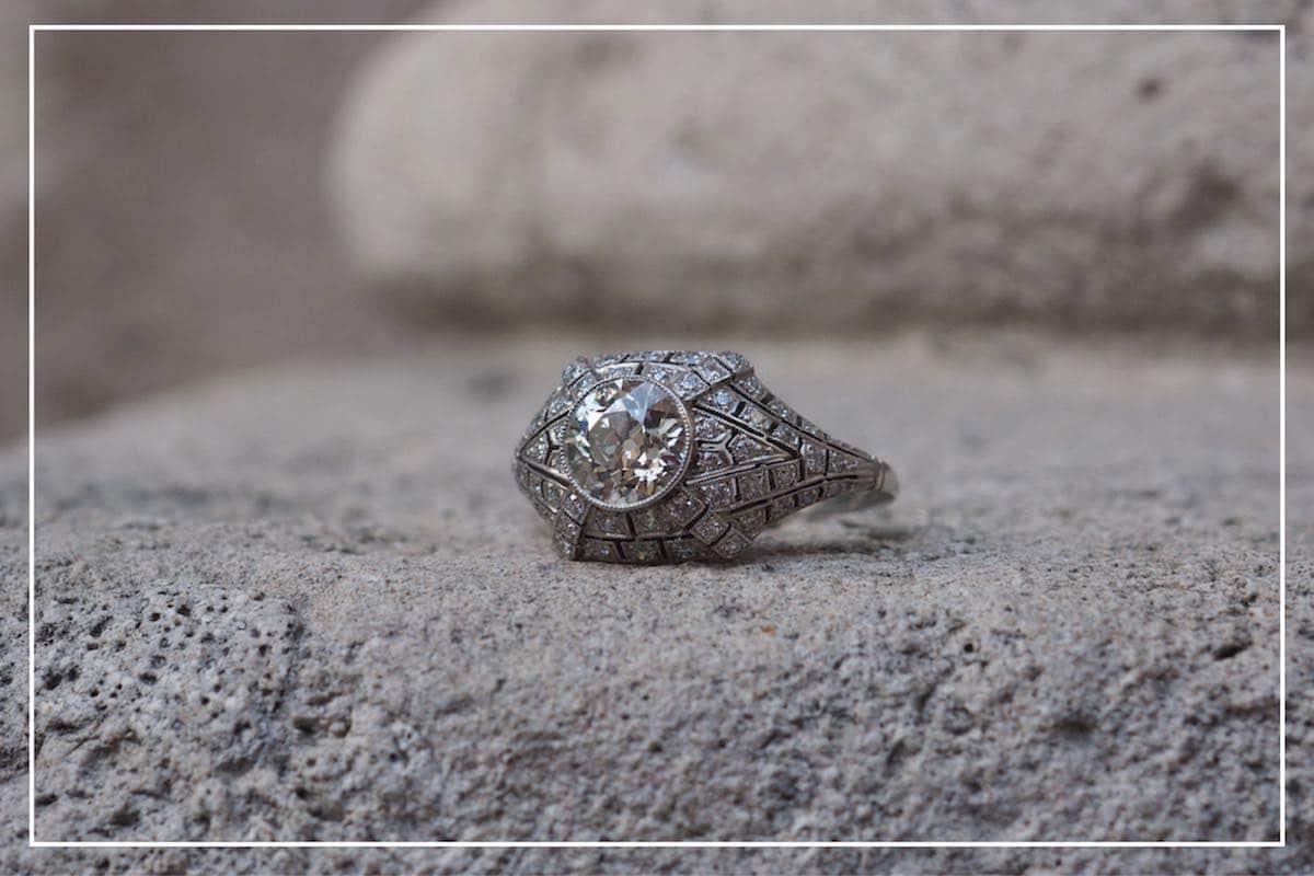 achat bague sertie de diamants