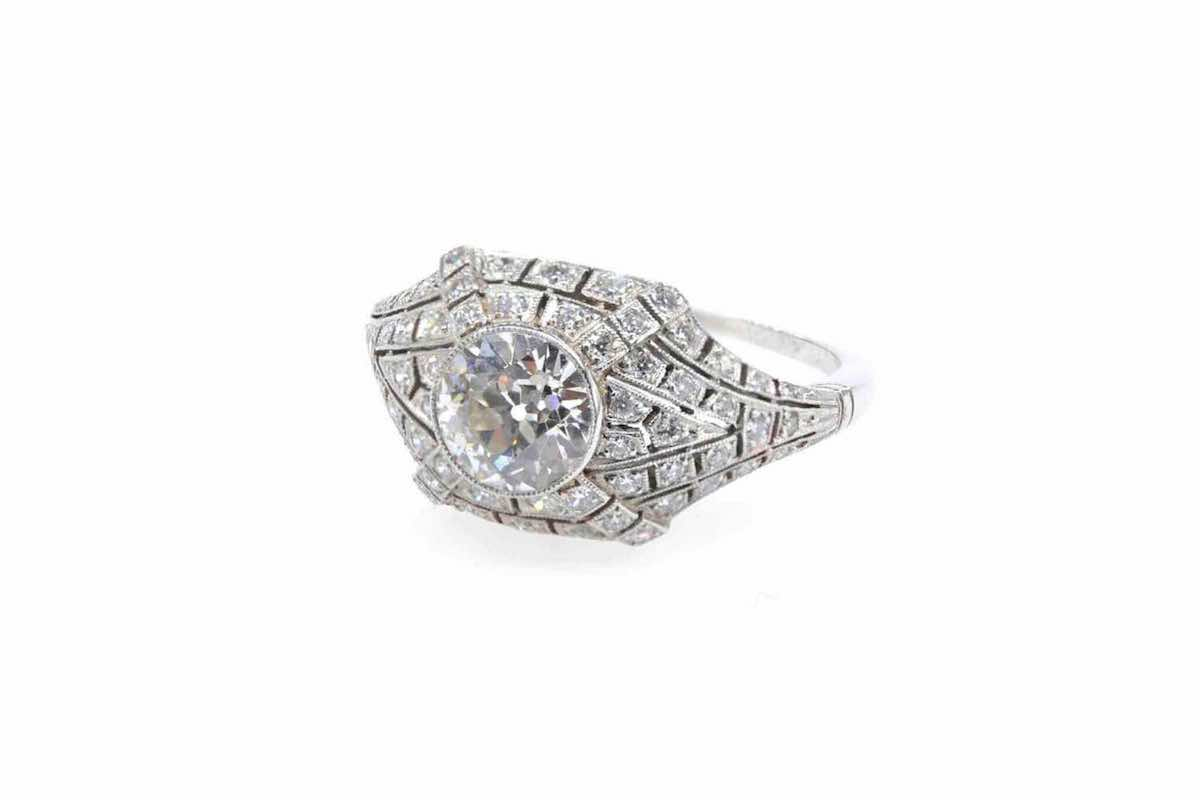 bague ancienne avec diamants