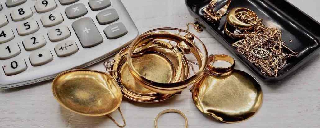 déchet d'or, bijoux cassés