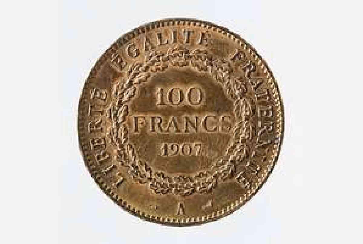 achat pièce d'or 100 francs